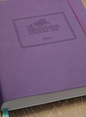 2021 Real Estate Day Planner Purple