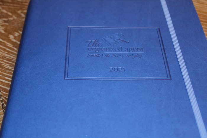 2021 Organized Agent Real Estate day planner - blue limited edition color