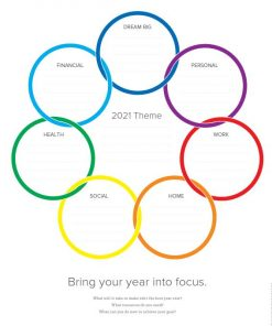 Color palette for 2021 Organized Agent Day Planner