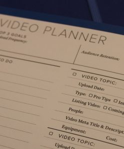 Video Planner for Organized Agent Day Planner